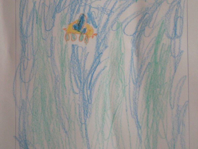Wesoły robak - rysował Antoś
