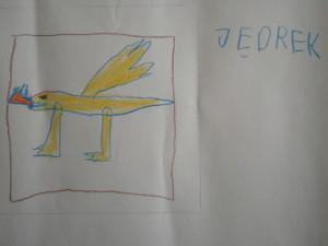...ze smokiem - rysunek Jędrka