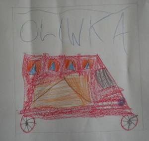 Autokar - rysowała Oliwia