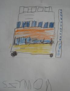 Muzeum i autokar - rysował Szymon II