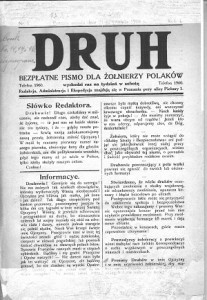 """""""Druh. Bezpłatne Pismo dla Żołnierzy Polaków""""."""