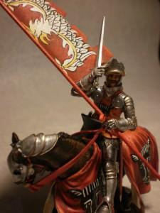 Do przedstawienia postaci Marcina z Wrocimowic użyłem figury włoskiej firmy SGF Soldiers. Fot. Karol Szaładziński